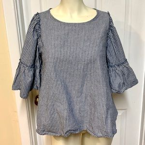 Altar'd State bell sleeve striped top size medium